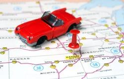 Kansan miasta usa mapy cabrio zdjęcie stock