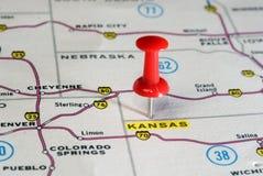 Kansan  USA  map Stock Photo