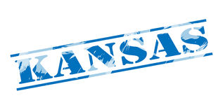 Kansas blue stamp Stock Photos