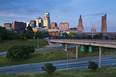 Kansas City. Image of the Kansas City skyline at twilight royalty free stock photography