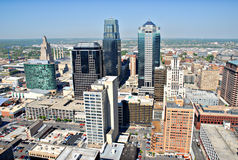 Kansas City. A photo of Kansas City taken from the top floor of City Hall stock image