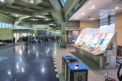 Kansas City Airport. KANSAS CITY, USA - JUNE 15, 2013: People hurry at Kansas City International Airport in Missouri, USA. With 4.8 million boardings in 2012 it Stock Photo