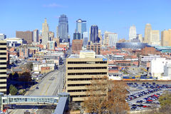 Kansas City cityscape. KANSAS CITY CIRCA DECEMBER 2016. Like many other Midwestern urban metropolitan areas, Kansas City has been experiencing a boom over the royalty free stock photos