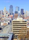 Kansas City cityscape. KANSAS CITY CIRCA DECEMBER 2016. Like many other Midwestern urban metropolitan areas, Kansas City has been experiencing a boom over the stock image