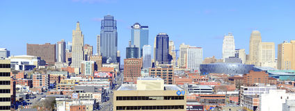 Kansas City cityscape. KANSAS CITY CIRCA DECEMBER 2016. Like many other Midwestern urban metropolitan areas, Kansas City has been experiencing a boom over the royalty free stock photo