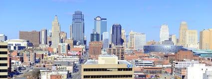 Kansas City cityscape. KANSAS CITY CIRCA DECEMBER 2016. Like many other Midwestern urban metropolitan areas, Kansas City has been experiencing a boom over the royalty free stock photo
