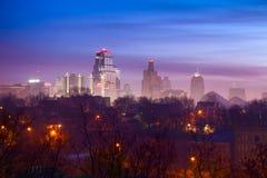 Kansas City dimma Arkivfoto