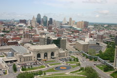 Kansas City do centro, Missouri Imagem de Stock
