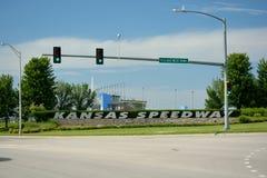 KANSAS CITY, KS, de V.S. - 31 Mei, 2017: De Speedwaybaan van Kansas is een Na Royalty-vrije Stock Foto's