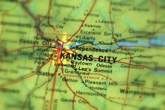 Kansas City, miasto w U S obrazy royalty free