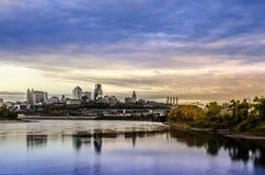 Kansas City Missouri cityscape Royaltyfri Fotografi