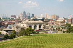 Kansas City Missouri horisont Royaltyfri Foto