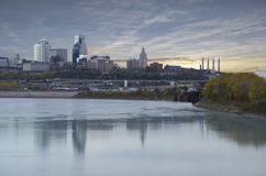 Kansas City Missouri miasta głąbik obraz royalty free