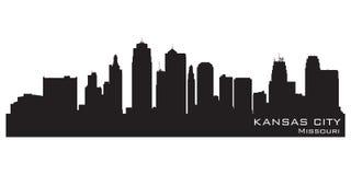 Kansas City Missouri skyline. Detailed vector silhouette vector illustration