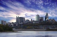 Kansas City Missouri stadsscape Royaltyfria Bilder