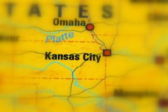 Kansas City, Missouri, Stany Zjednoczone U S obrazy stock