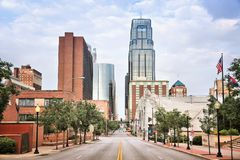 Kansas City, Missouri. City in the United States. Downtown skyline stock image
