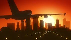 Kansas City Missouri usa Ameryka linii horyzontu wschodu słońca lądowanie obraz royalty free