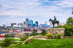 Kansas City, Missouri, USA. Downtown skyline stock image