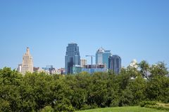 Kansas city Missouri USA downtown skyline Stock Photos