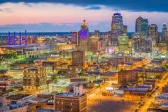 Kansas City Missouri, USA horisont arkivfoton
