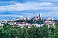 Kansas City, MO/USA - circa July 2015: View of  Kansas City, Missouri,  Kansas Royalty Free Stock Image