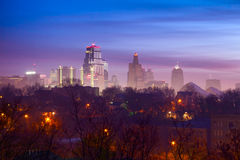 Kansas City-Nebel stockfoto