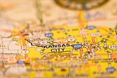Kansas City områdesöversikt Arkivfoto