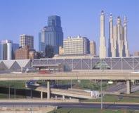 Kansas City, orizzonte di Mo Fotografie Stock Libere da Diritti