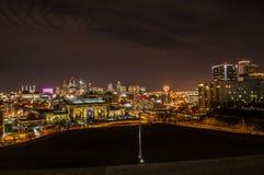 Kansas City på natten Royaltyfri Foto
