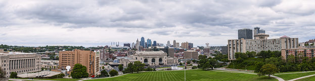 Kansas City panorama Arkivbild