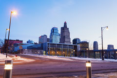 Kansas City panorama. At dawn. Kansas City, Missouri, USA stock photo