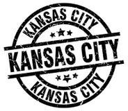 Kansas City stamp. Kansas City round grunge stamp isolated on white background Royalty Free Stock Photos