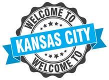 Kansas City round seal. Kansas City round ribbon seal Stock Photo