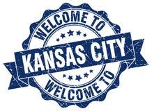 Kansas City round seal. Kansas City round ribbon seal Royalty Free Stock Photos