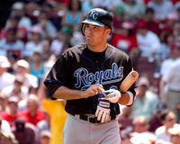 Kansas City Royals di David DeJesus Fotografia Stock Libera da Diritti