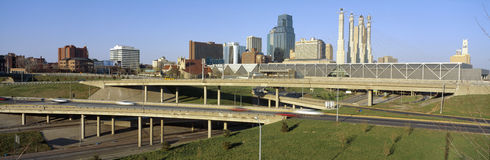 Kansas City skyline Royalty Free Stock Photos