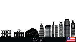 Kansas city skyline Royalty Free Stock Photography