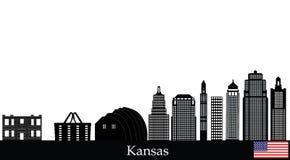 Kansas city skyline Royalty Free Stock Photography