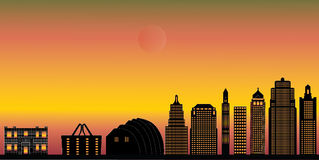 Kansas city skyline Royalty Free Stock Image