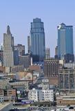 Kansas City skyline from Crown Center, MO Royalty Free Stock Photos
