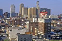 Kansas City skyline from Crown Center, MO Royalty Free Stock Photo