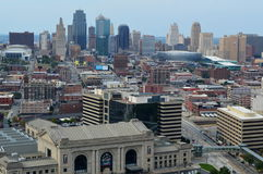 Kansas City Skyline Panorama Stock Image