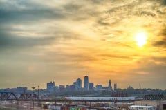 Kansas City skyline at sunrise Royalty Free Stock Image