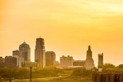 Kansas City skyline at sunrise. Kansas  City skyline at sunrise Royalty Free Stock Images