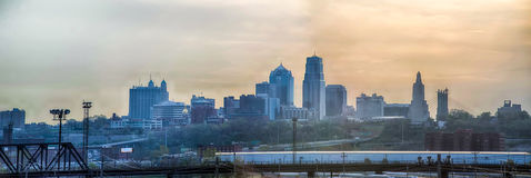 Kansas City skyline sunrise Royalty Free Stock Photography