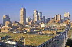 Kansas City skyline at sunrise, MO Stock Images