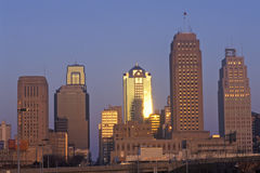 Kansas City skyline at sunrise, MO Royalty Free Stock Photography