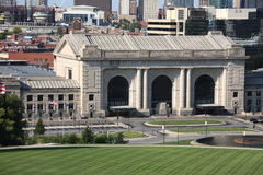 Kansas City Skyline - Union Station Stock Photography