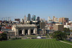 Kansas City Skyline - Union Station Stock Photos